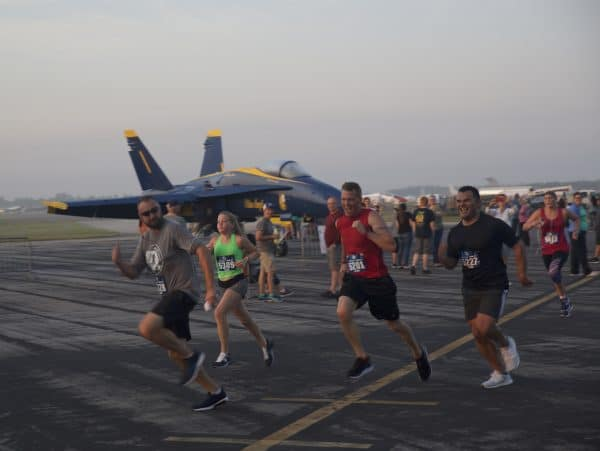 Photo of SUN 'n RUN 2019 with the USN Blue Angels. Signup for 2020 and run next to the USAF Thunderbirds!
